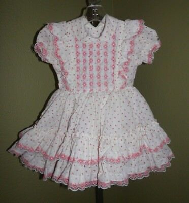 Oh So Beautiful Vintage Betty Oden Red And White Baby Girls Dress