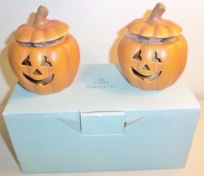 PARTYLITE Pumpkin Votive Pair Candle Holders *P8729 NEW IN BOX