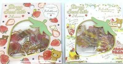 Rilakkuma Flake Sack Stickers Puffy Super cute Strawberry NEW SAN-X KAWAII JAPAN