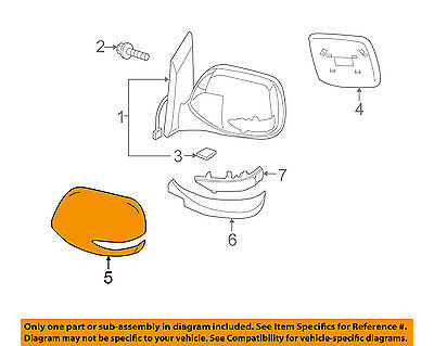SUBARU OEM 10-11 Legacy Outside Mirrors-Front Door-Outer Cover Right 91054AJ08A