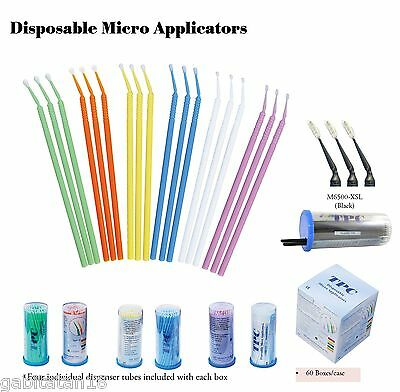 Dental Disposable Micro Applicator Brushes 400 pcs By TPC Made in USA