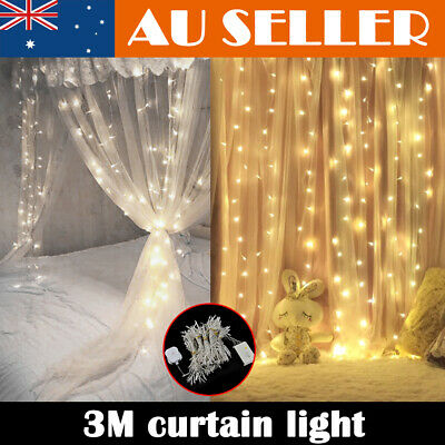 304LED String Fairy Curtain Icicle Lights Waterfall Lamp Christmas Wedding Party