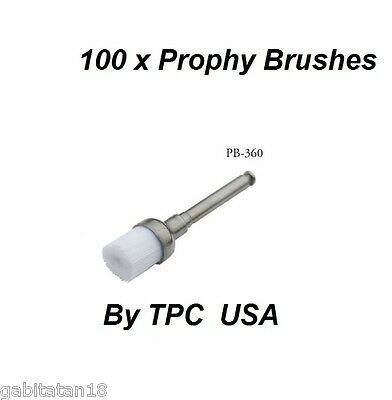 Disposable Prophy Brushes Dental 100 pcs By TPC Made in USA