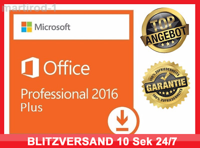 Microsoft Office 2016 Professional Plus, MS® Office ✔PRO VOLLVERSION✔ 32&64Bit ✔