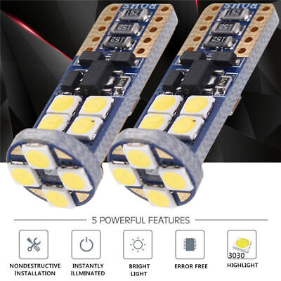 2x T10 168 194 3030 LED 12 SMD 6000K Canbus Xenon Weiß Glühbirne Beleuchtung