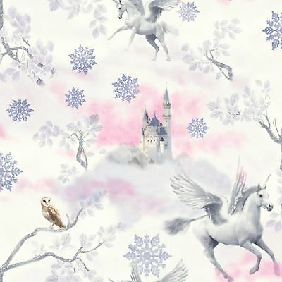 Fairytale Unicorn Wallpaper Lilac Childrens Bedroom Wallpaper - Arthouse 667801
