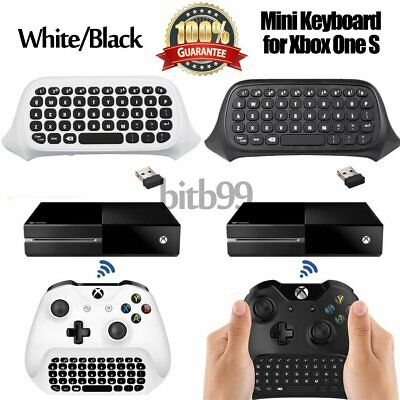 47Keys 2.4G Wireless Message Chatpad Keyboard KeyPad For Xbox One S Controller A