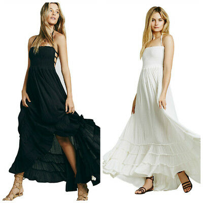 Pretty Womens Ladies Summer Long Maxi Strappy Dress Beach Evening Party Sundress