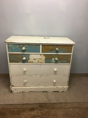 Victorian Pine Chest Of Drawers (painted)