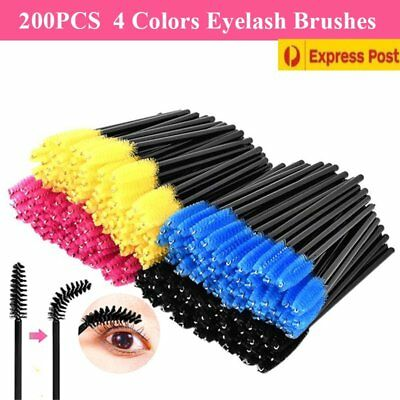50/100/2000 Disposable Mascara Wands Eyelash Brush Applicator Extension CO