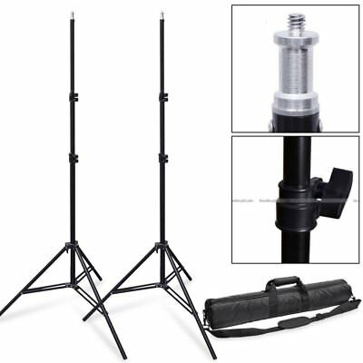 """27"""" 70cm photography Padded Light Stand Tripod Carrying Bag Case + 2X 2m Stand"""
