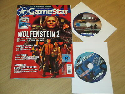 GAME STAR XL NOVEMBER 2017 + 2 DVDs VOLLVERSION CRAZY MACHINES 3 + HD VIDEOS