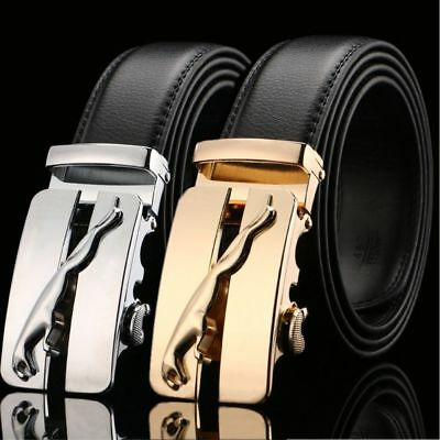 Mensleather Belts For Men Automatic Kids Designer Leopard  Belt Buckle Luxury