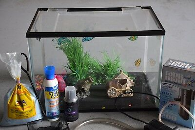 Complete Glass Aquarium With Lid 44 x 28 x 30cm 30L Fish Tank with Accessories