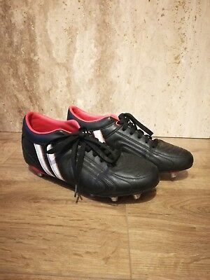 Patrick Unisex Studded Rugby Boots UK 8 - Great Condition - Black - PE Sports