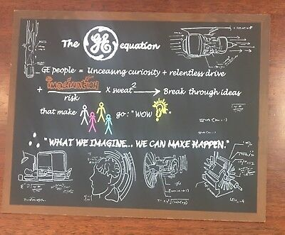 General Electric Wall Plaque The GE Equation Faux Chalkboard