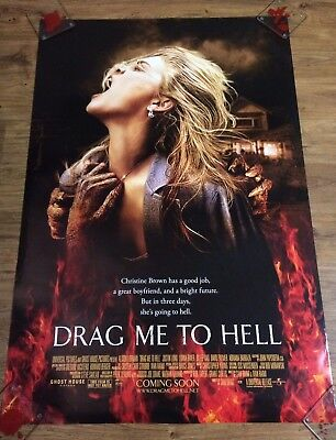 DRAG ME TO HELL Original One Sheet Movie Poster-HORROR