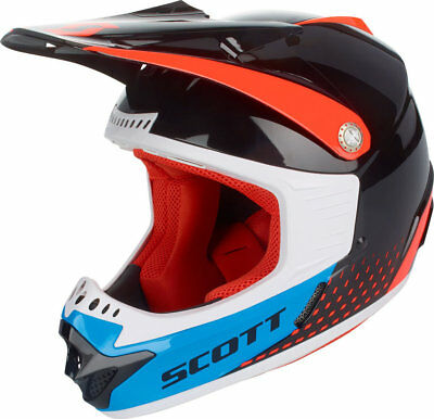 SCOTT 350 Kids Pro Schwarz Blau Orange M 50-51 Kinder MX BMX MTB DH Racing Moto