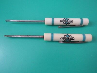 Vtg. International Harvester Promotional Screwdrivers, Lot Of 2, Good Condition.