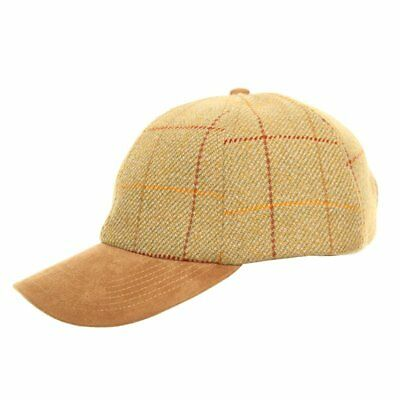 Country Light -Tweed Wool Baseball Cap With Faux Suede Peak 8e9012ddee1d