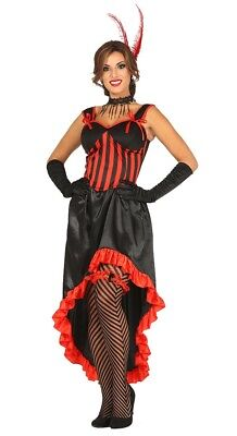 Can Can Ragazza Saloon Showgirl Moulin Rouge selvaggio west costume 8//10