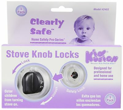 Clear Stove Lock Baby Kids Toddler Protection Safety Cover Knob Stove Childproof