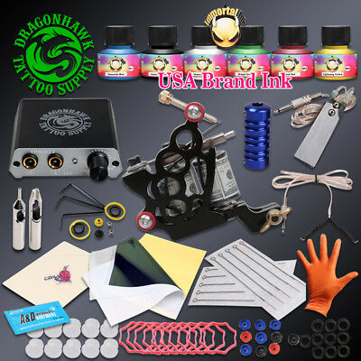 Complete Beginner Tattoo Kit Tattoo Machine Gun Immortal Inks Set Mini Power