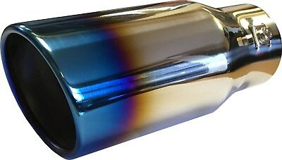 "Burnt Ionized Universal 8.25"" Car Round Exhaust Tip End Pipe Stainless Steel"