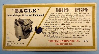 Vtg 40's or 50's Advertising Ink Blotter . Torley Hardware Co., Monmouth, Ill