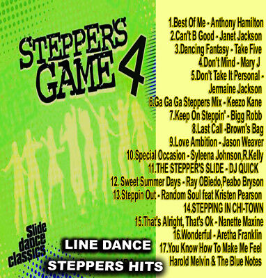 The Steppers Game Vol. 4 LINE DANCE R&B MUSIC DJ MIX CD Old School Lovers Mix
