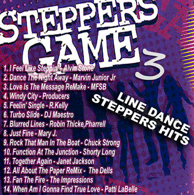 The Steppers Game Vol. 3 LINE DANCE R&B MUSIC DJ MIX CD Old School Lovers Mix