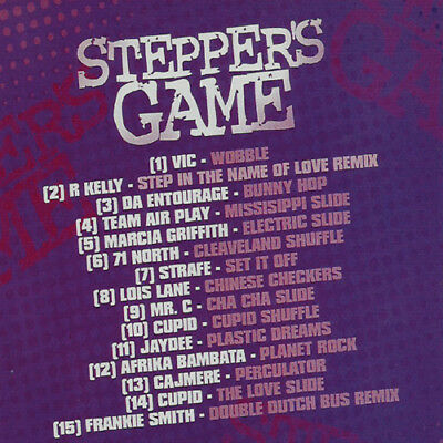The Steppers Game Vol. 1 LINE DANCE R&B MUSIC DJ MIX CD Old School Lovers Mix