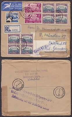 South Africa 1966 - Air mail cover to Munich Germany 31926