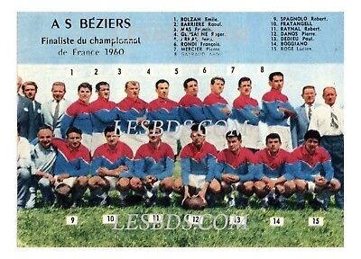Tirage/reprint A3 Photo 1960   : Rugby : As Beziers