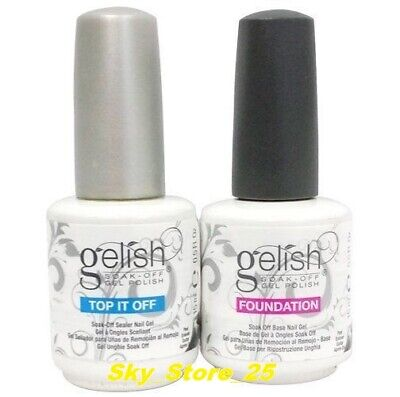 GELISH Harmony Soak Off Gel Nail Polish FOUNDATION Base & Top Coat 15 mL 0.5 oz
