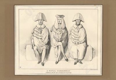 John Doyle caricature 1830 Karikatur A Royal Commission Rosslyn Shaftesbury etc