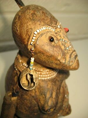 Small African Terracotta Figure Antique Collector Rare Nigeria Tribal Art Old