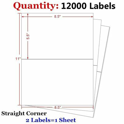 12000 Half Sheet 8.5x5.5 Shipping Pastage Blank Labels Self Adhesive USPS Paypal