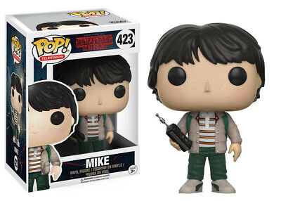Stranger Things Mike with Walkie Talkie Vinyl POP! Figure Toy #423 FUNKO NEW MIB