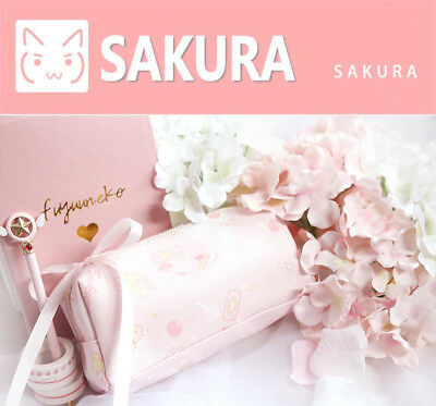 Anime Card Captor Sakura Magic Wand Pink Pencil Case Girls Pen Bag Gift