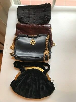 Vintage Lot Of 4 Handbags