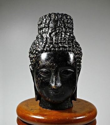 Chinese / South East Asian Cast Bronze Buddha Head 19th Century