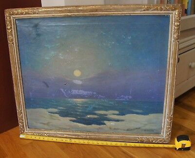 Arts & Crafts 25 X 30 Newcomb Macklin Picture Frame Howard Spencer Oil On Canvas