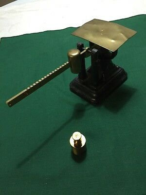 Antique Cast Iron And Brass Postal Scale . Fairbanks.