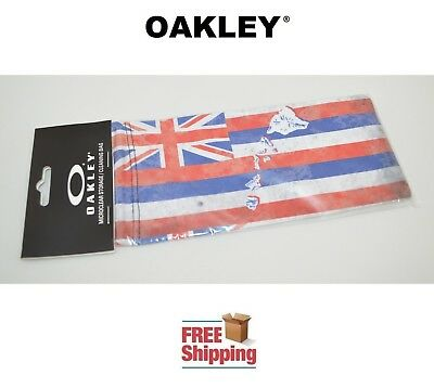 Oakley® Sunglasses Eyeglasses Microclear Cleaning Storage Bag Hawaii Flag New