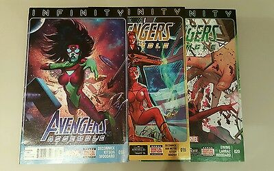 Avengers Assemble vols. 018-020, part of the Infinity storyline