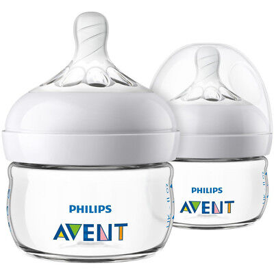 PHILIPS Avent SCF019/25 2oz Natural Baby Bottle - 2 Pack - Clear