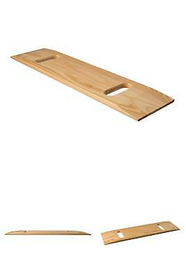 Mabis Wooden Transfer Slide Board, Wheelchair Transfer Board With Two Cut Out Ha