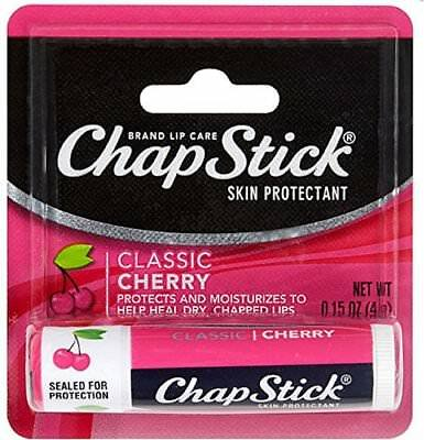 ChapStick Classic (Cherry Flavor, 0.15 Oz) Lip Balm Tube-12 Pack -Exp 08-2018