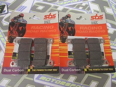 SBS Dual Carbon Racing Track Front Brake Pads for Suzuki GSXR600 GSXR 2004-2010